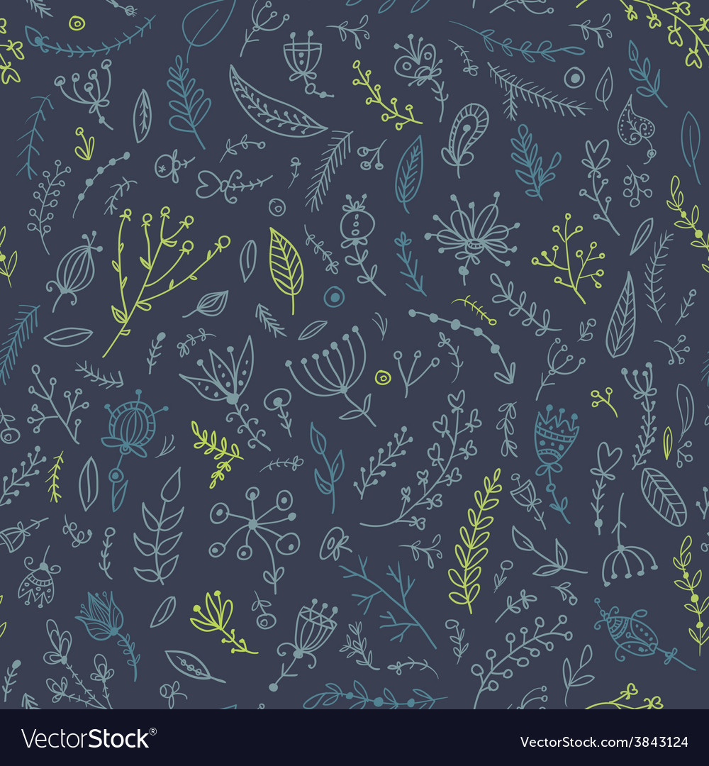 Herb seamless pattern vector | Price: 1 Credit (USD $1)