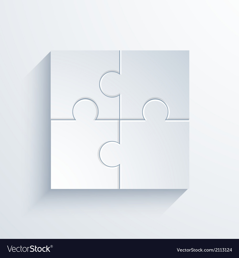 Modern puzzle background vector | Price: 1 Credit (USD $1)