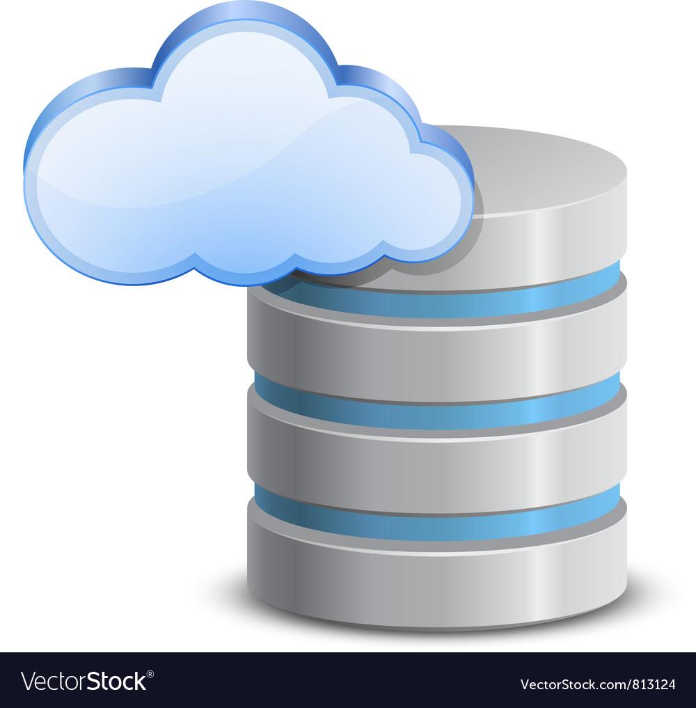Online backup icon vector | Price: 3 Credit (USD $3)