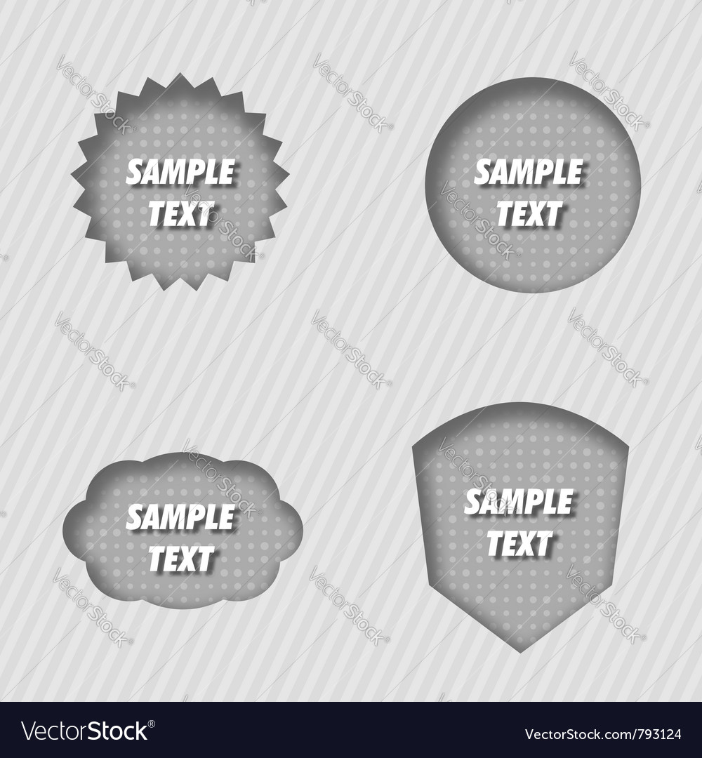 Pressed labels vector | Price: 1 Credit (USD $1)