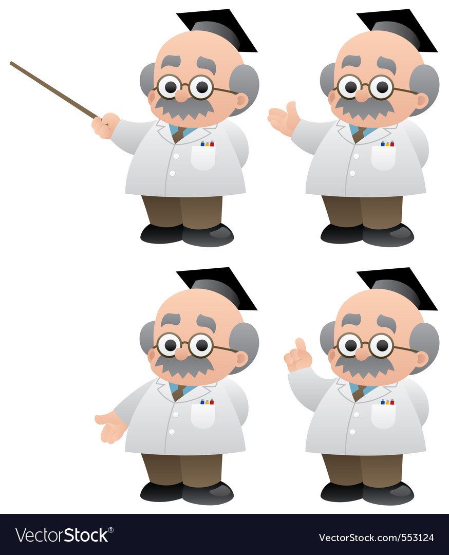 Professor vector | Price: 1 Credit (USD $1)