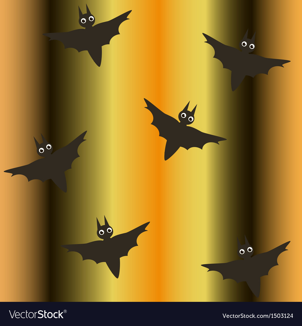 Seamless background for halloween with bats vector | Price: 1 Credit (USD $1)