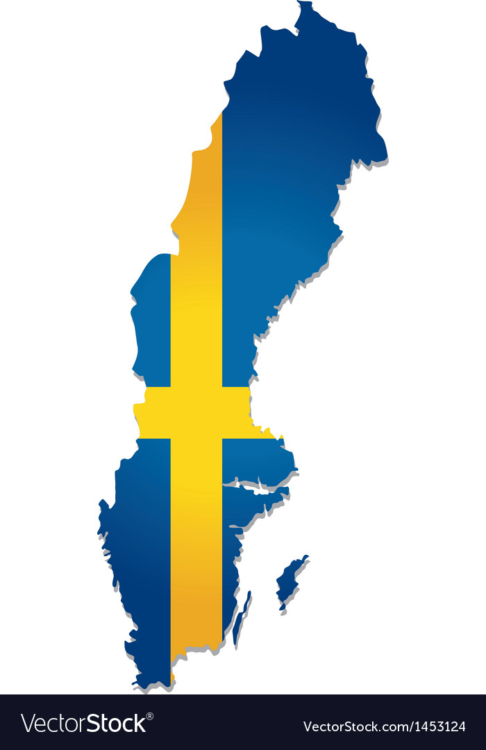 Sweden map flag vector | Price: 1 Credit (USD $1)