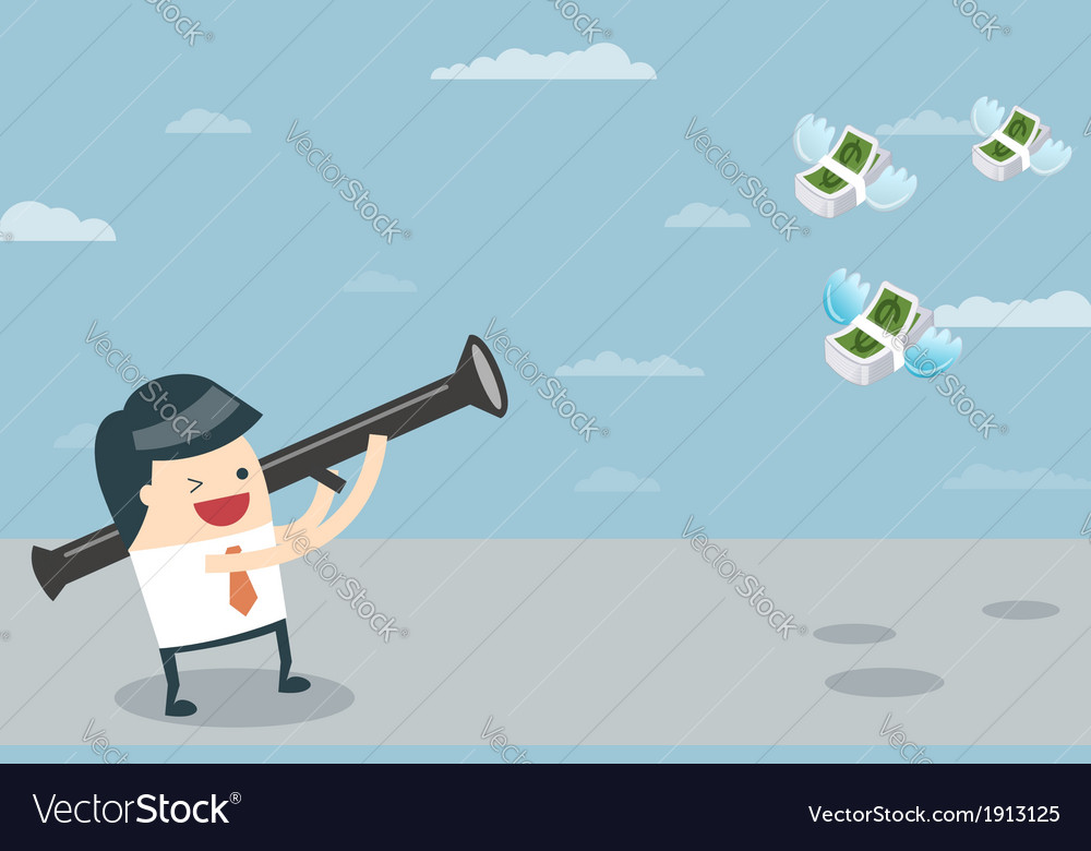 Businessman target with money vector | Price: 1 Credit (USD $1)