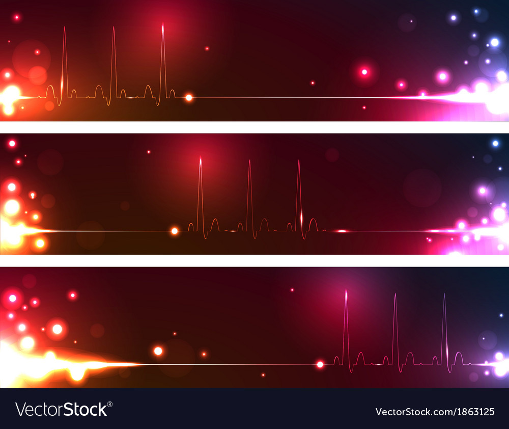 Cardiogram banners vector   Price: 1 Credit (USD $1)