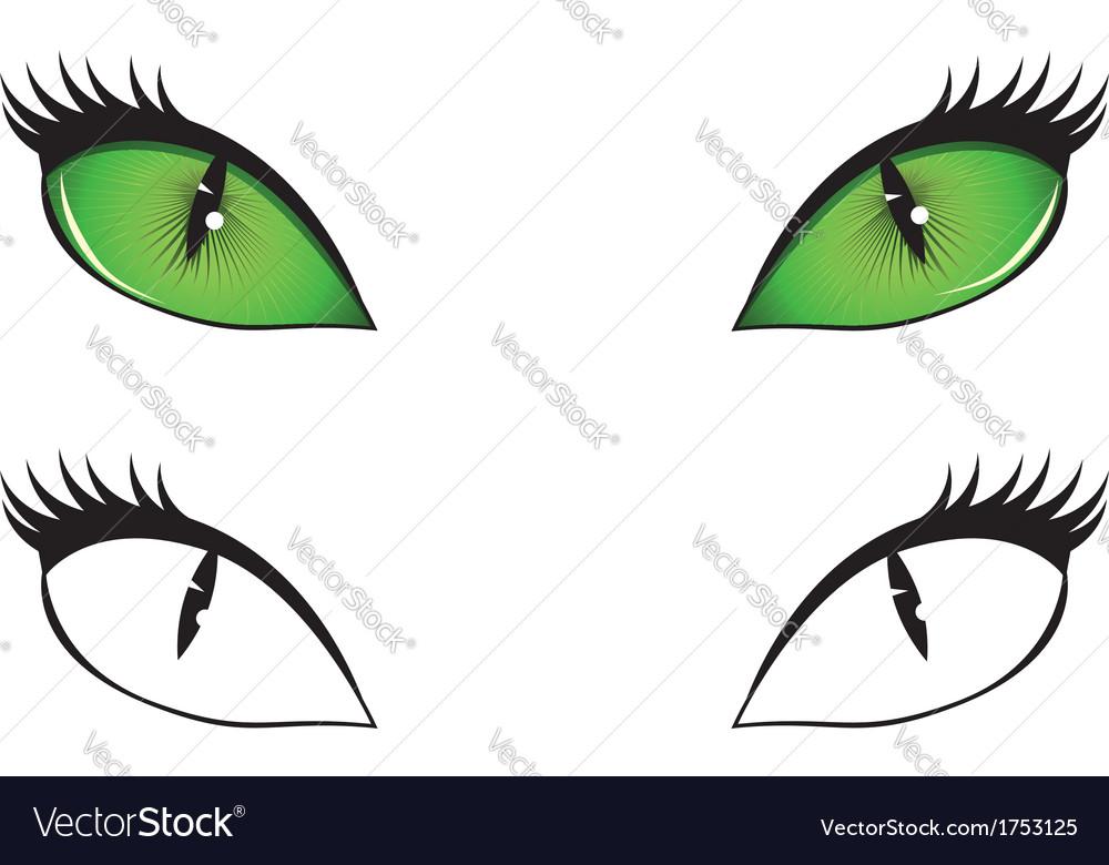 Cartoon cat eyes vector | Price: 1 Credit (USD $1)