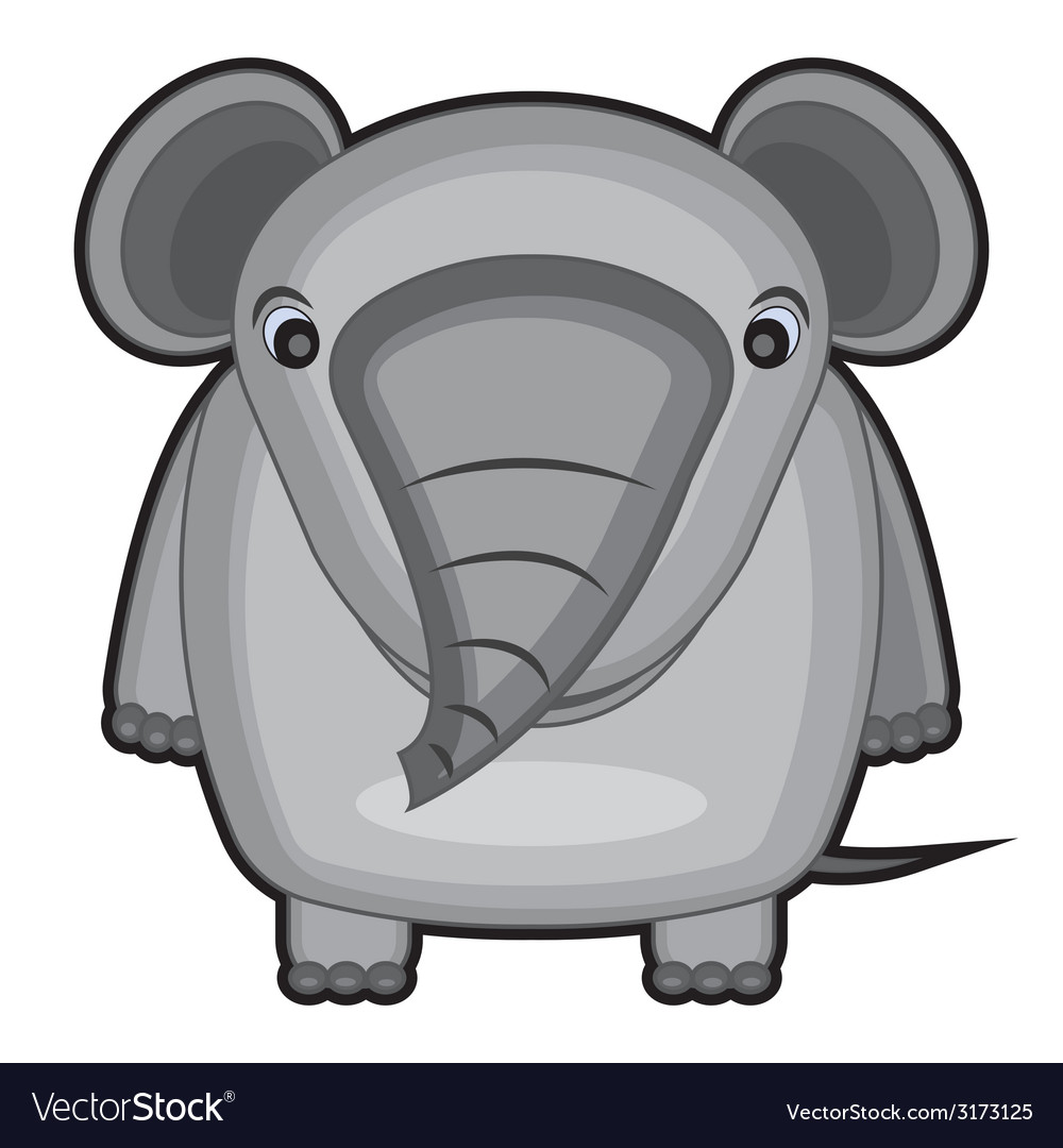 Cartoon of a baby elephant vector | Price: 1 Credit (USD $1)