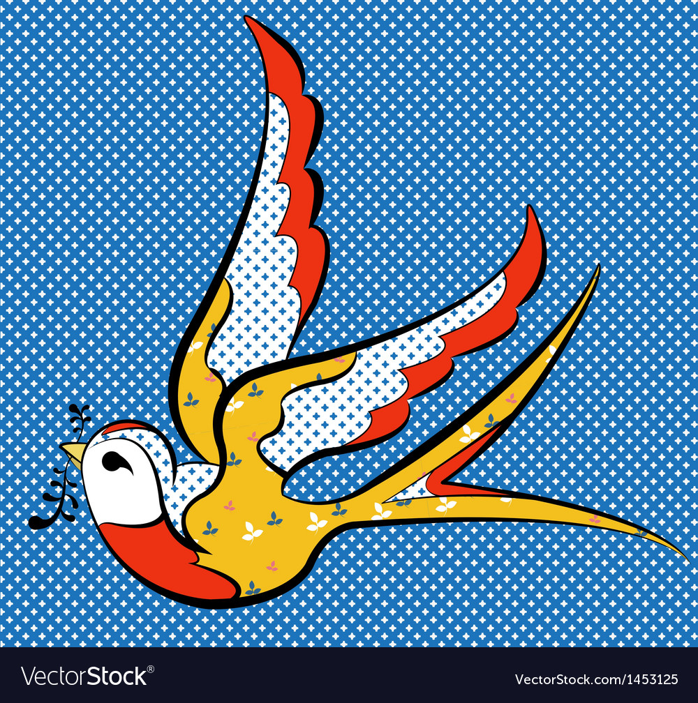 Colorful sparrow vector | Price: 1 Credit (USD $1)