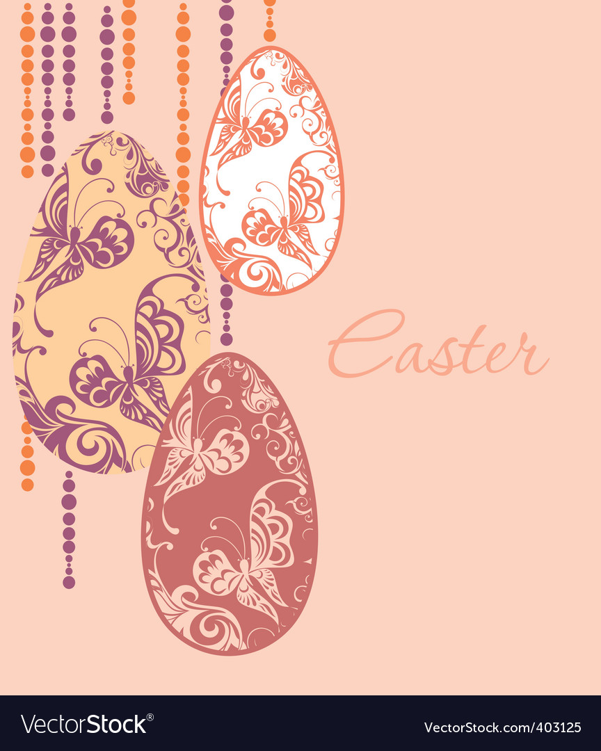 Easter eggs garland vector | Price: 1 Credit (USD $1)
