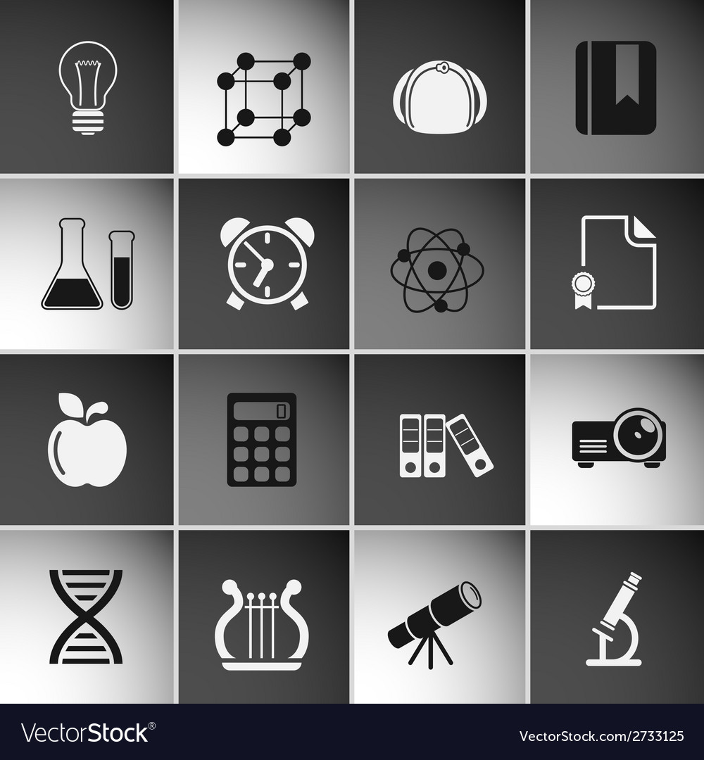 Education icons set vol 2 vector | Price: 1 Credit (USD $1)