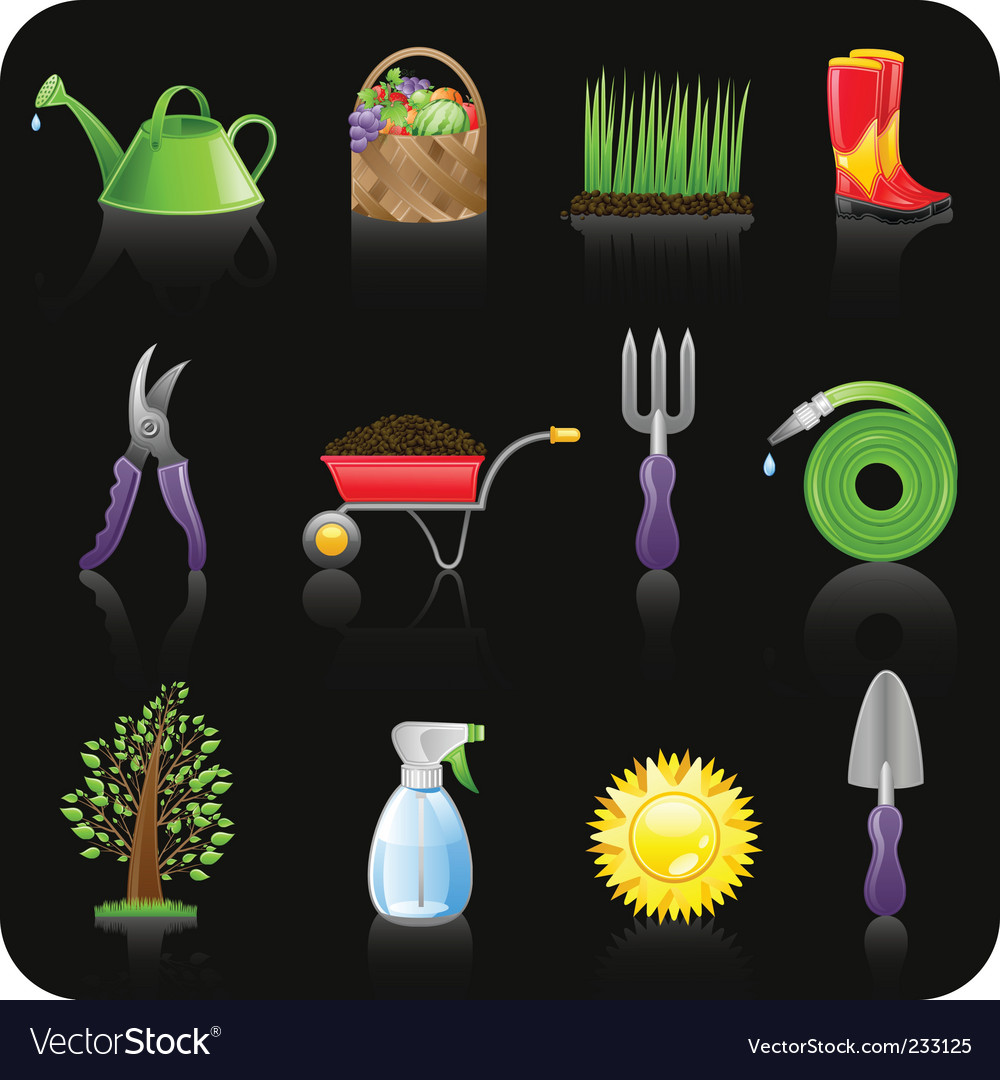 Garden set vector | Price: 3 Credit (USD $3)