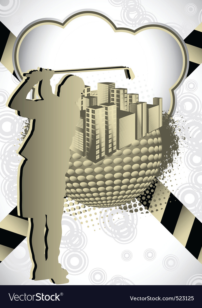 Golf summer abstract vector | Price: 1 Credit (USD $1)