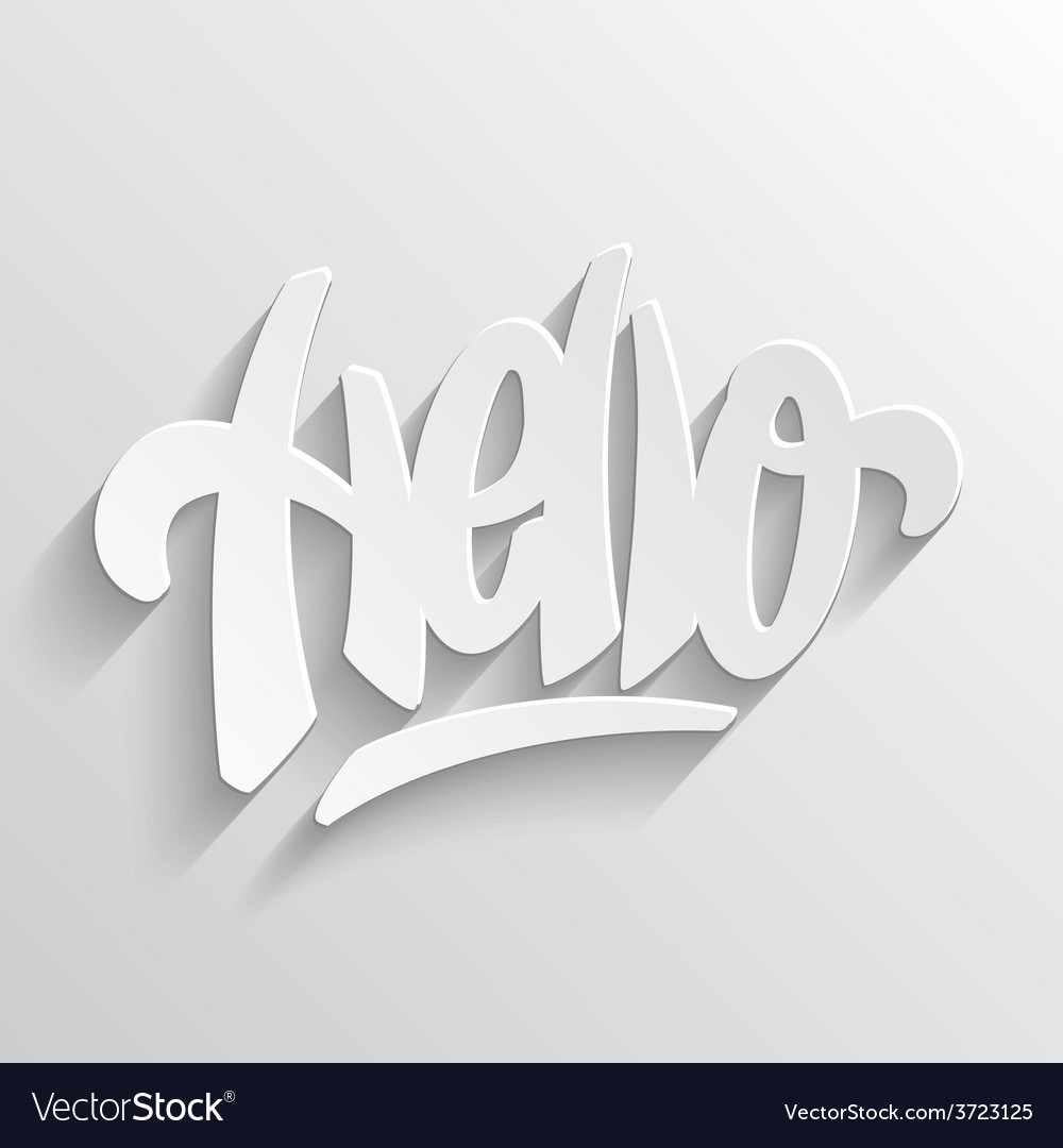 Hello hand lettering vector | Price: 1 Credit (USD $1)