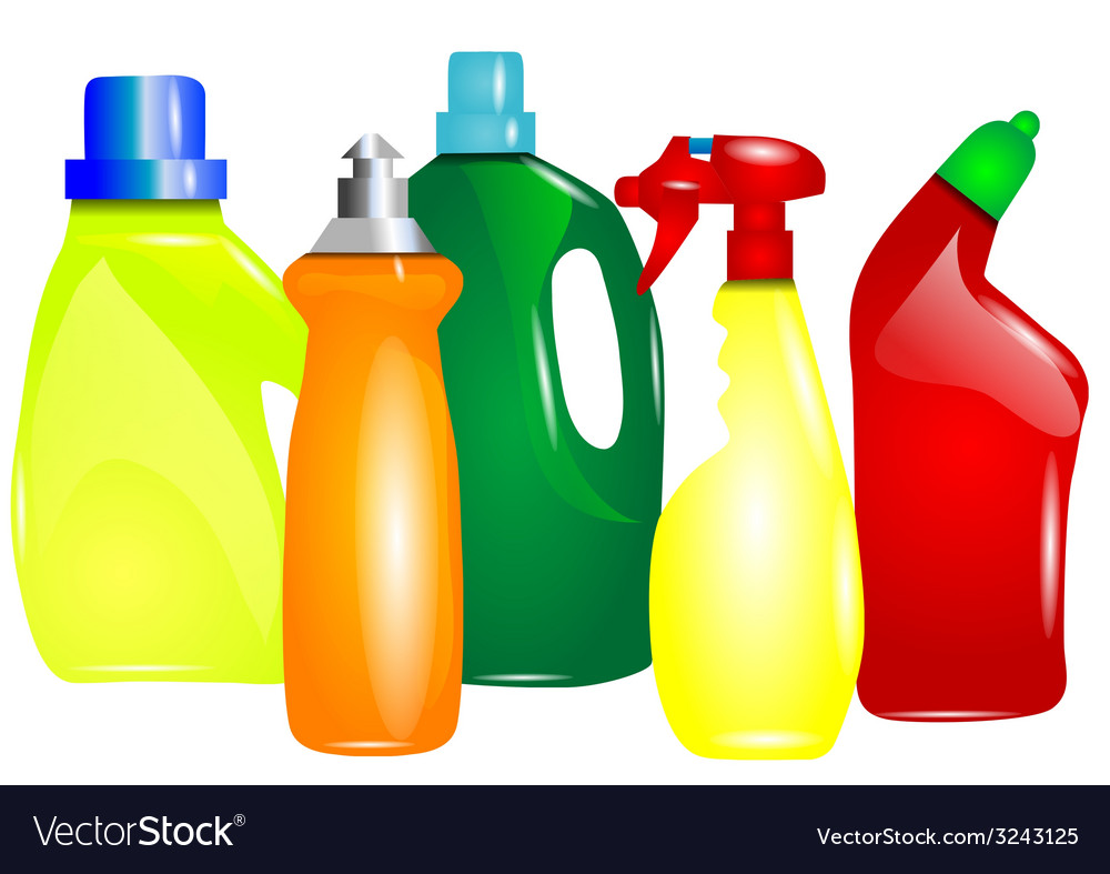 Multicolor cleaning products vector | Price: 1 Credit (USD $1)