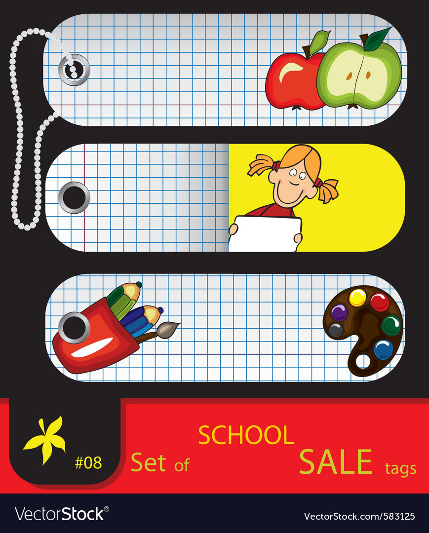 Price tags school vector | Price: 3 Credit (USD $3)