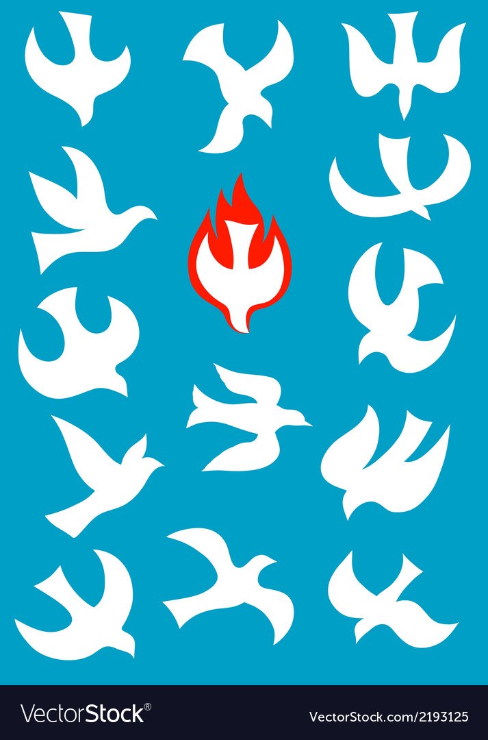 Set icon of holy spirit vector | Price: 1 Credit (USD $1)