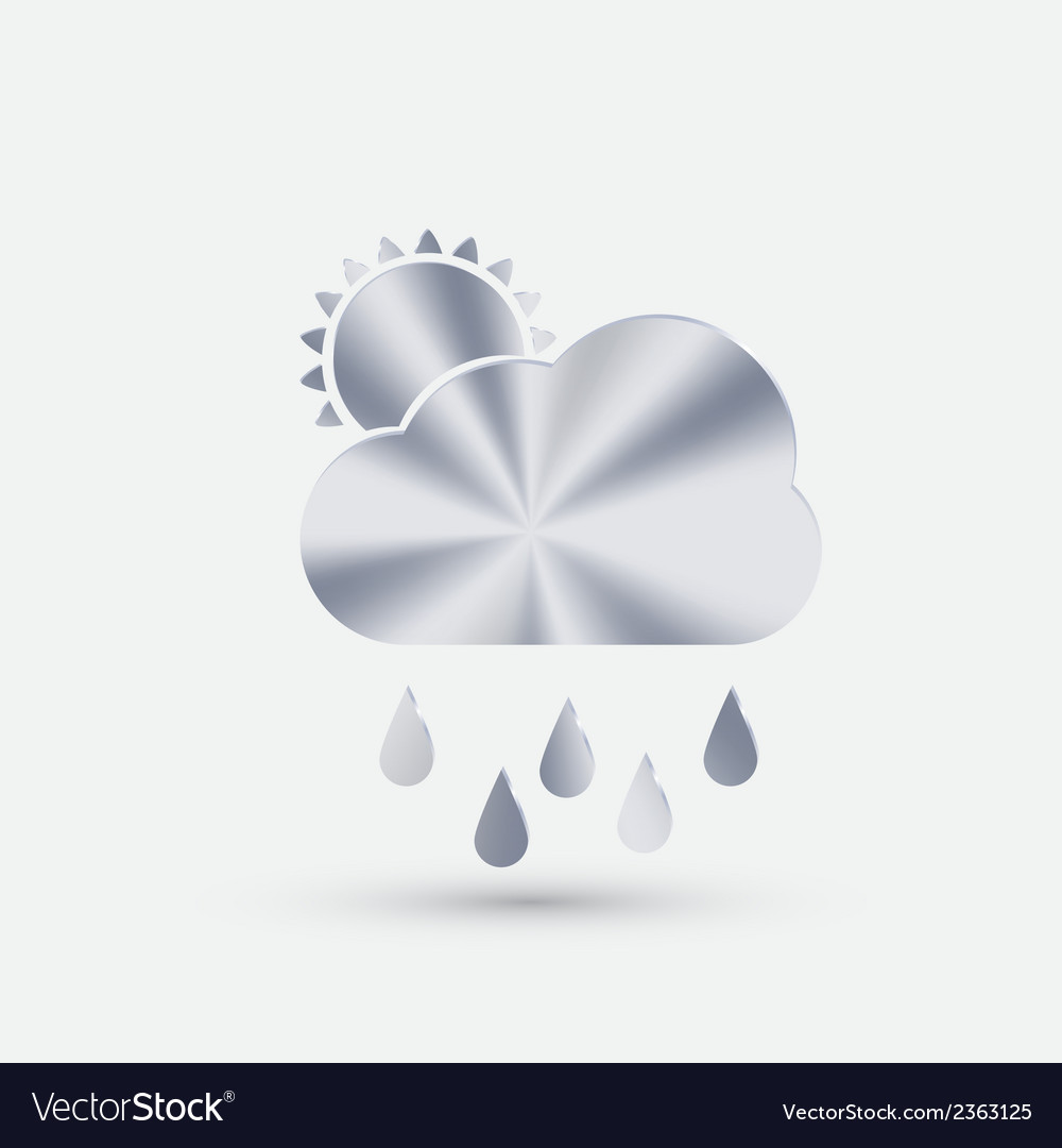Steel icon cloud rain vector | Price: 1 Credit (USD $1)