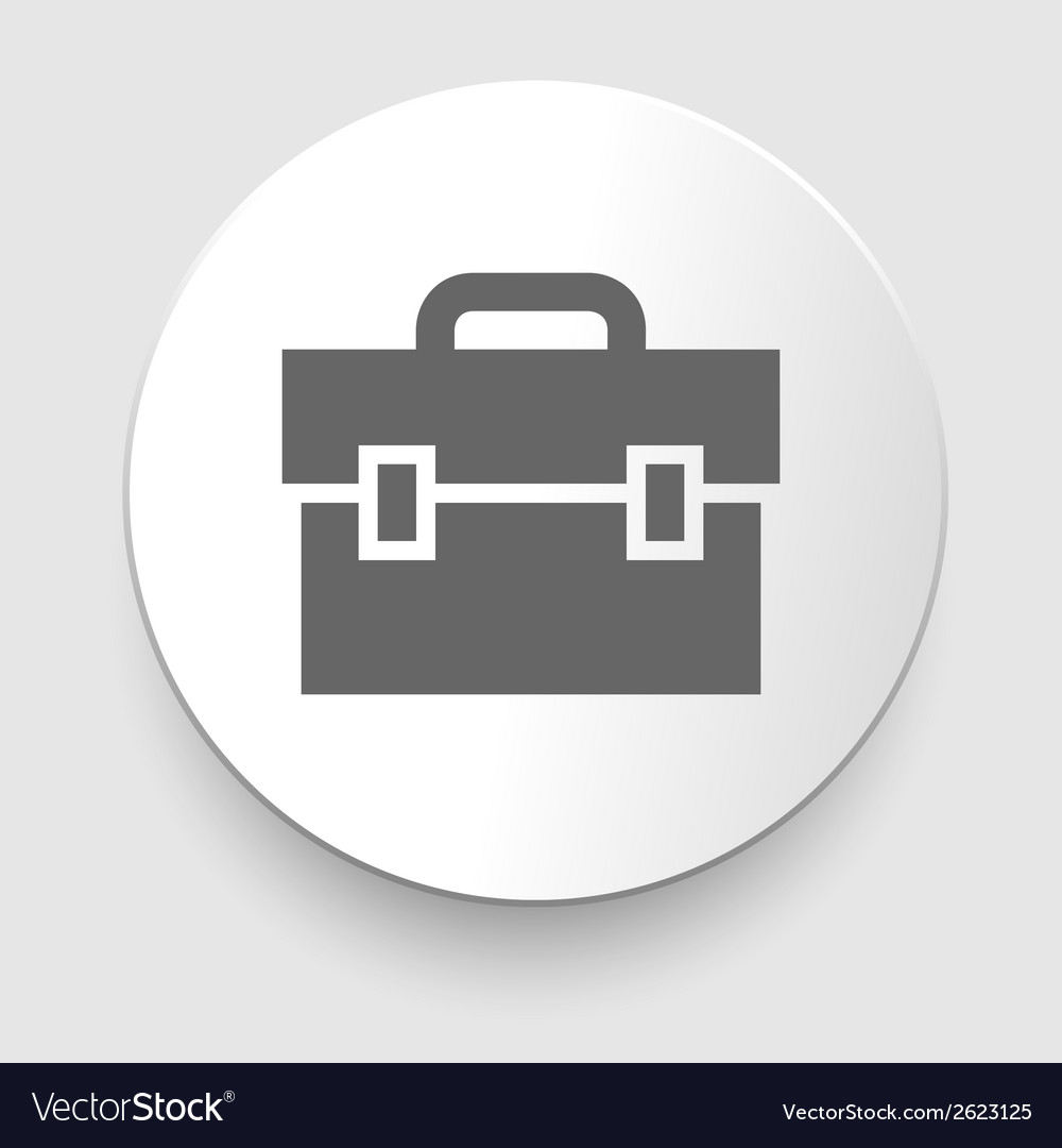 Transparent business briefcase icon vector | Price: 1 Credit (USD $1)