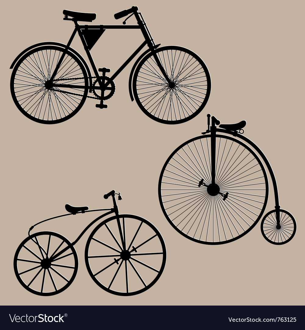 Vintage bicycles vector | Price: 1 Credit (USD $1)