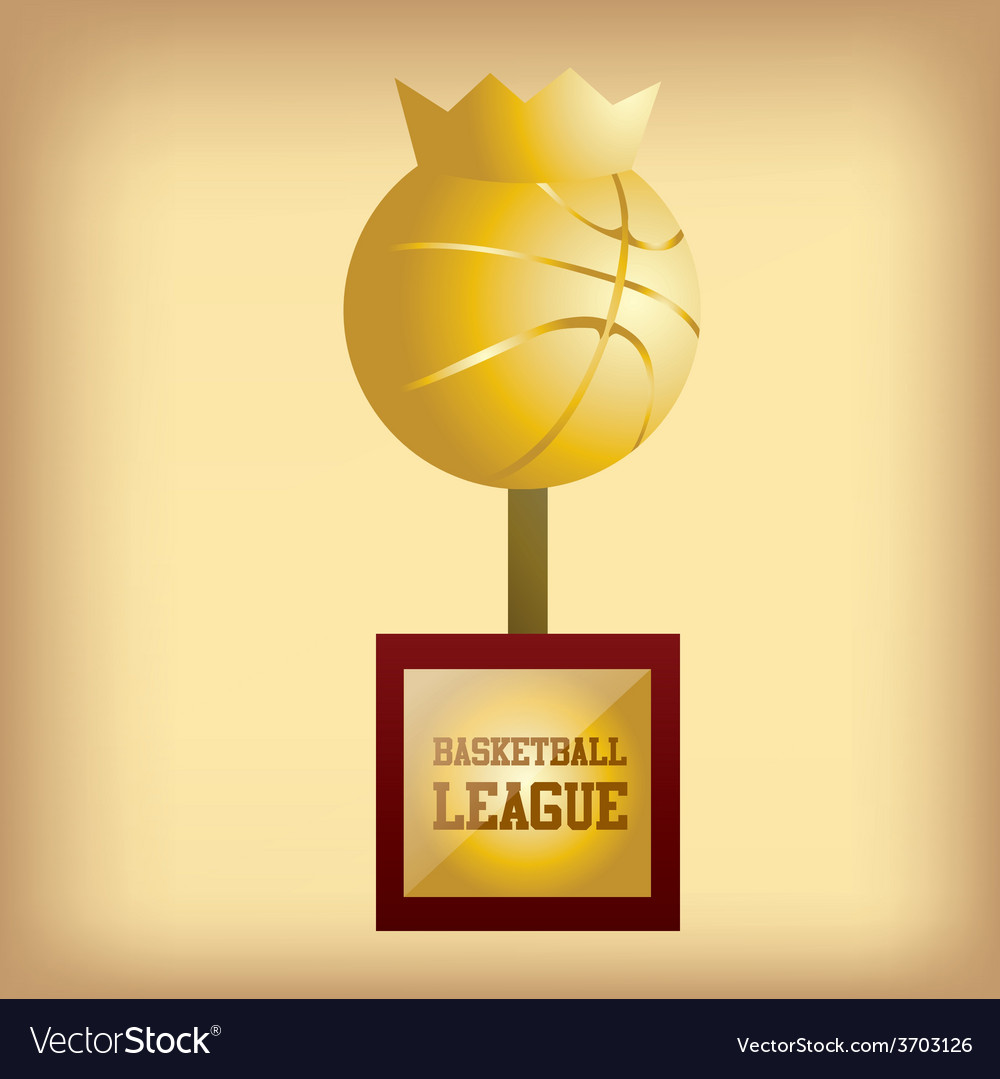 An isolated golden trophy for a basketball tournam vector   Price: 1 Credit (USD $1)