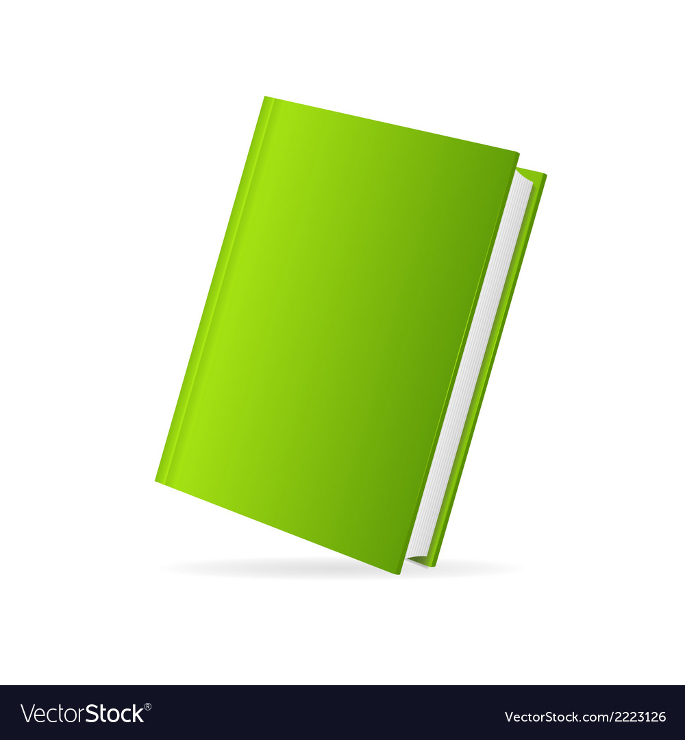 Book cover green perspective vector | Price: 1 Credit (USD $1)