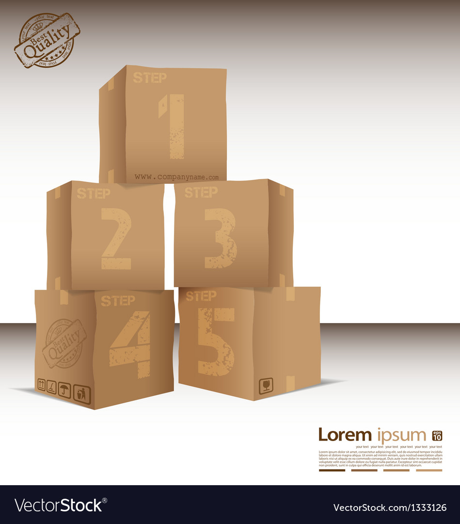 Box with five steps vector | Price: 1 Credit (USD $1)