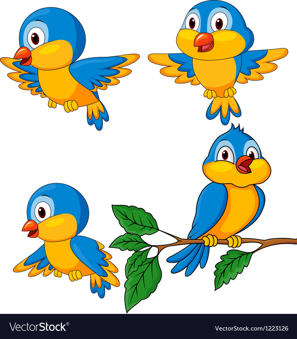 Cute bird cartoon vector | Price: 3 Credit (USD $3)