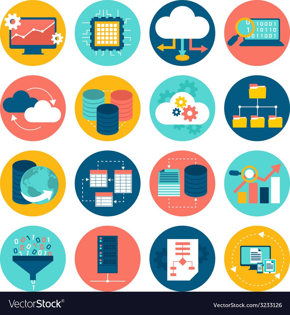 Data analysis icons vector | Price: 1 Credit (USD $1)