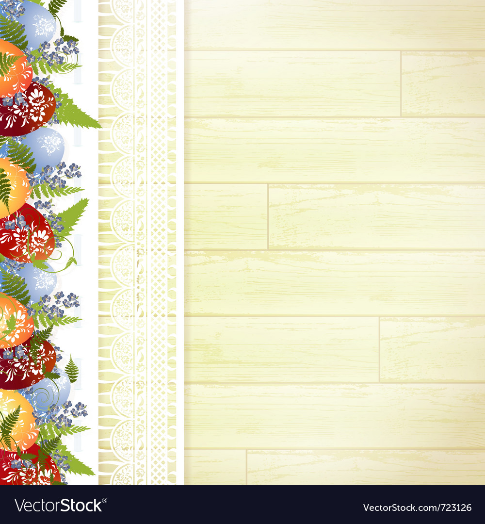Easter wooden background vector | Price: 1 Credit (USD $1)