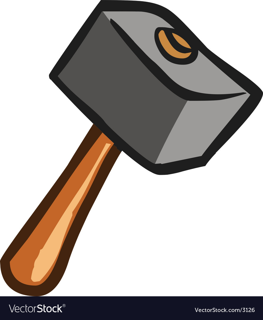 Hammer tool vector | Price: 1 Credit (USD $1)