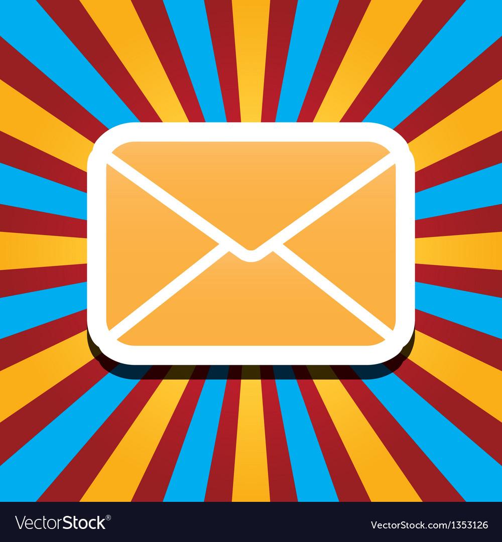Icon of envelope vector | Price: 1 Credit (USD $1)