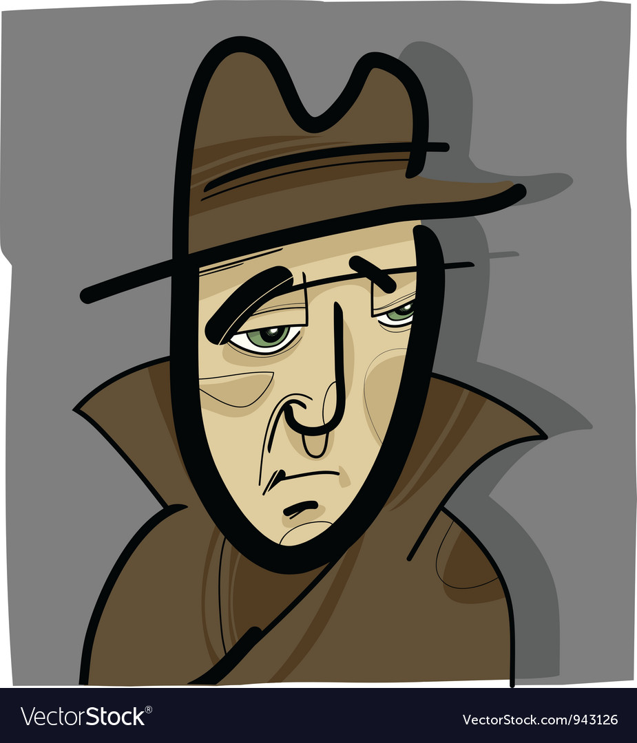 Man in the hat vector | Price: 1 Credit (USD $1)