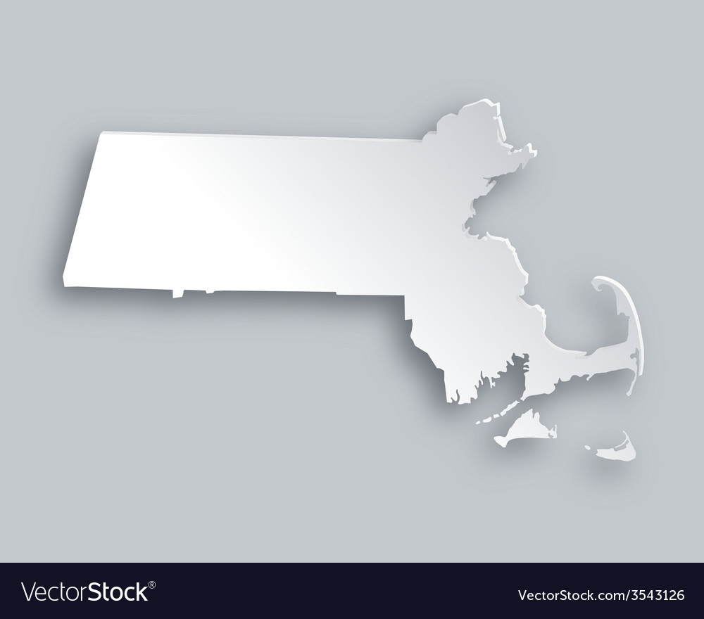 Map of massachusetts vector | Price: 1 Credit (USD $1)