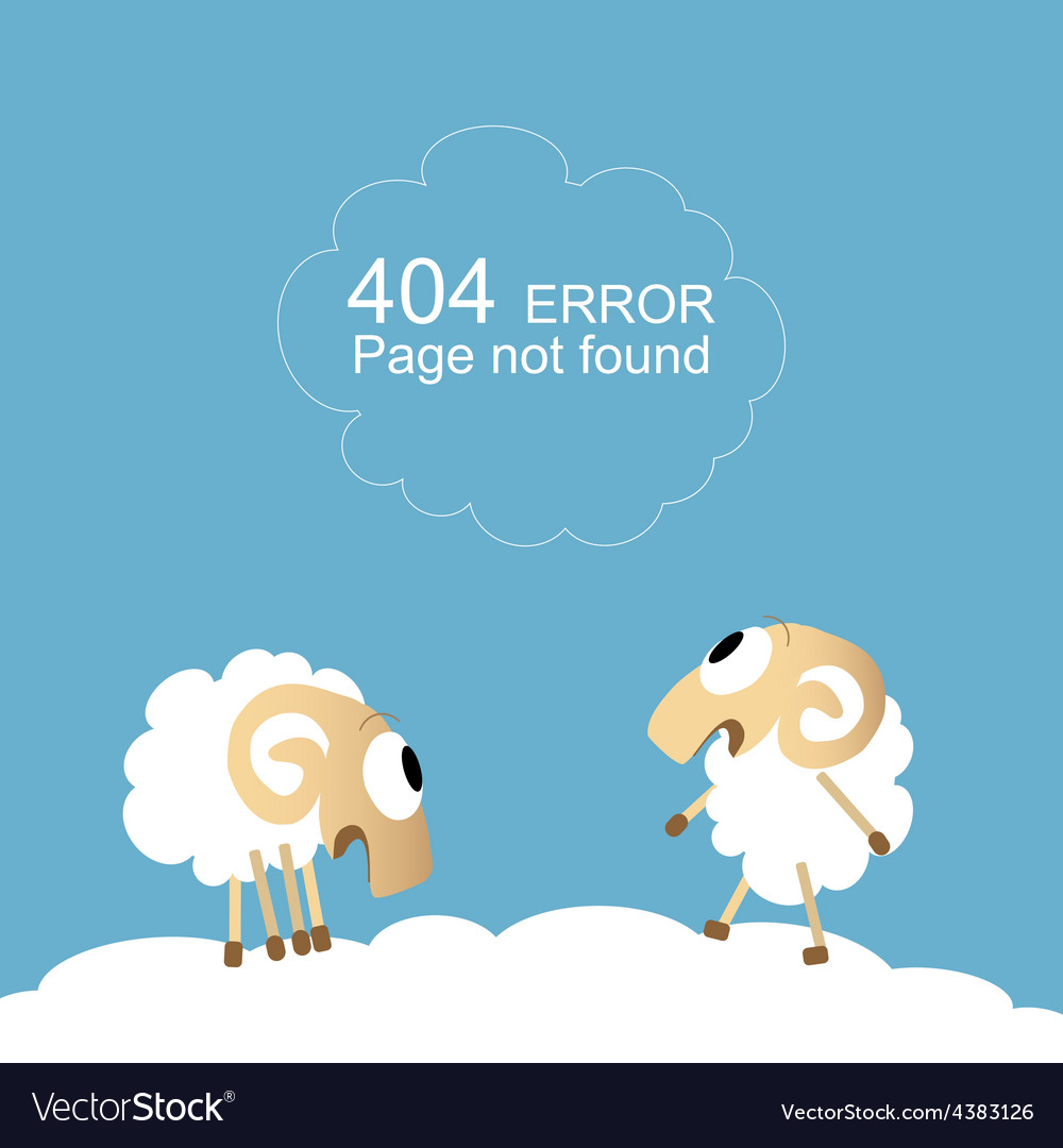 Page not found 404 error vector | Price: 1 Credit (USD $1)