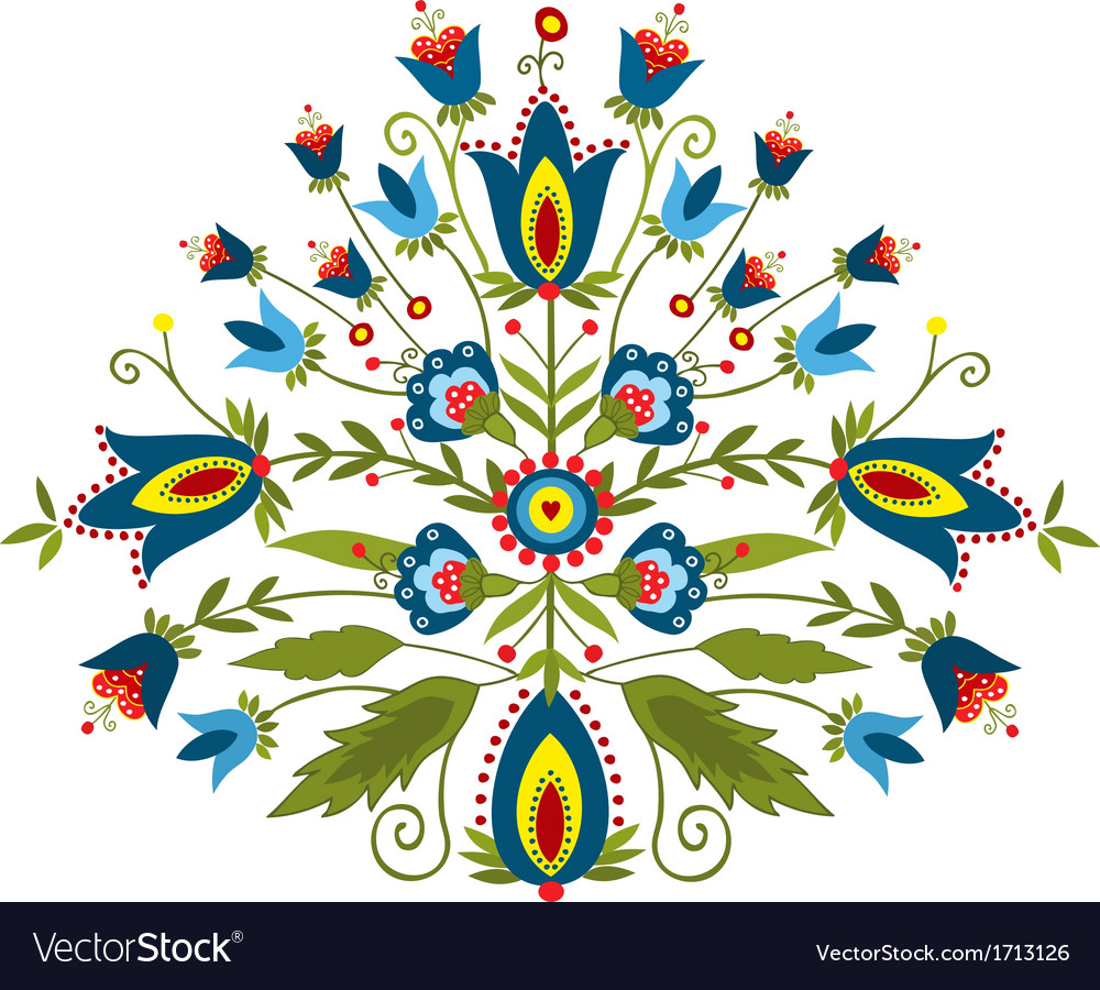 Polish embroidery design inspiration vector | Price: 1 Credit (USD $1)