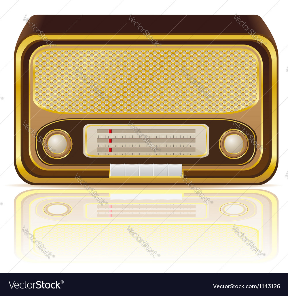 Retro radio 02 vector | Price: 1 Credit (USD $1)