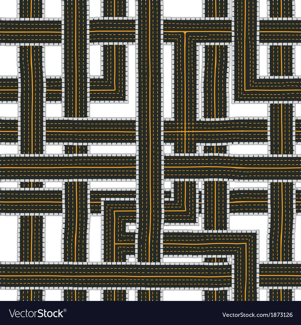 Seamless road pattern vector | Price: 1 Credit (USD $1)