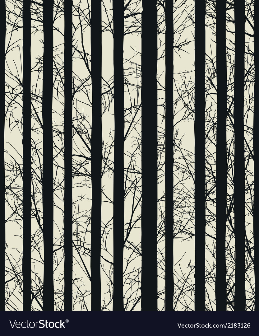 Seamless texture with trees vector | Price: 1 Credit (USD $1)