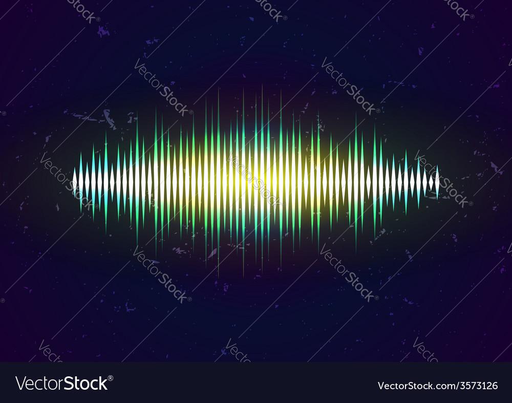 Shiny sound waveform vector | Price: 1 Credit (USD $1)