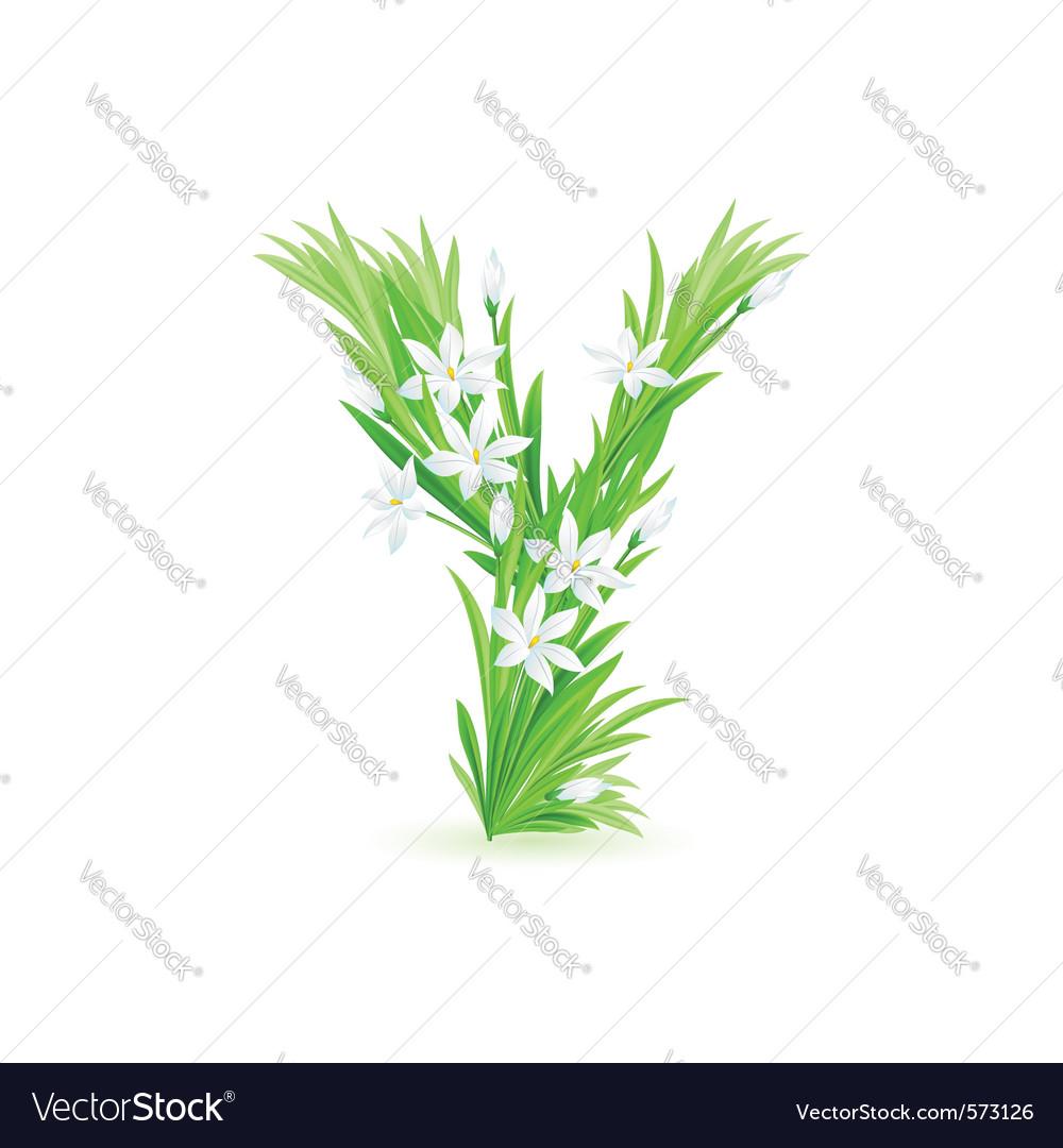 Spring flowers alphabet y vector   Price: 1 Credit (USD $1)