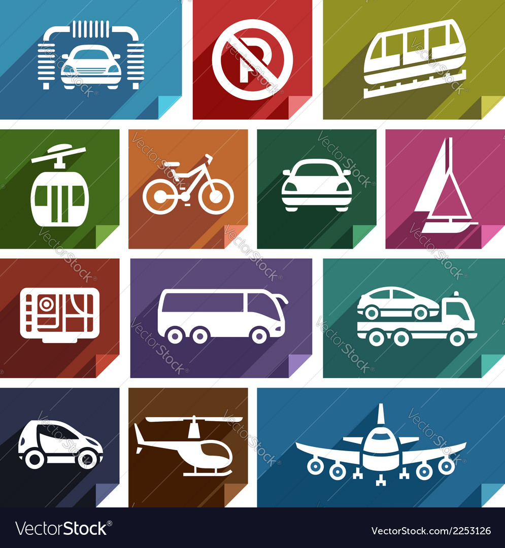 Transport flat icon-04 vector | Price: 1 Credit (USD $1)