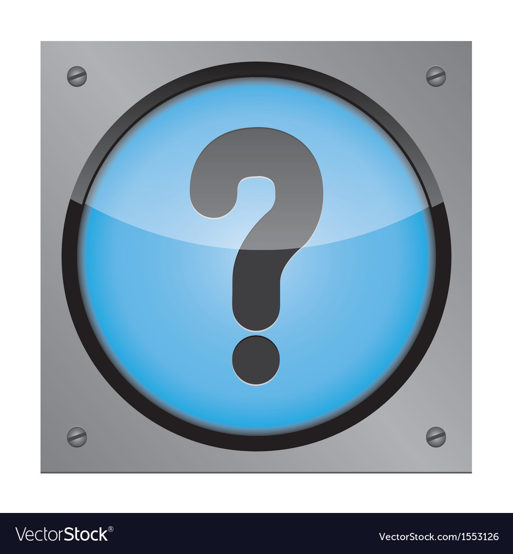 Web button question on a steel plate vector | Price: 1 Credit (USD $1)