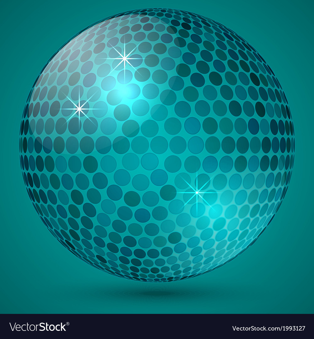 Abstract shining crystal ball vector | Price: 1 Credit (USD $1)