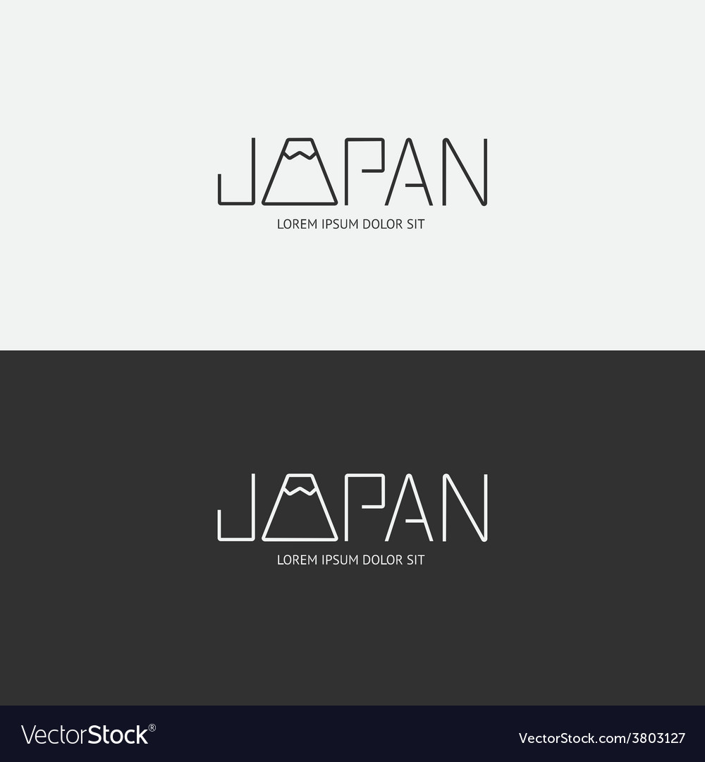 Alphabet japan design concept with flat sign vector | Price: 1 Credit (USD $1)