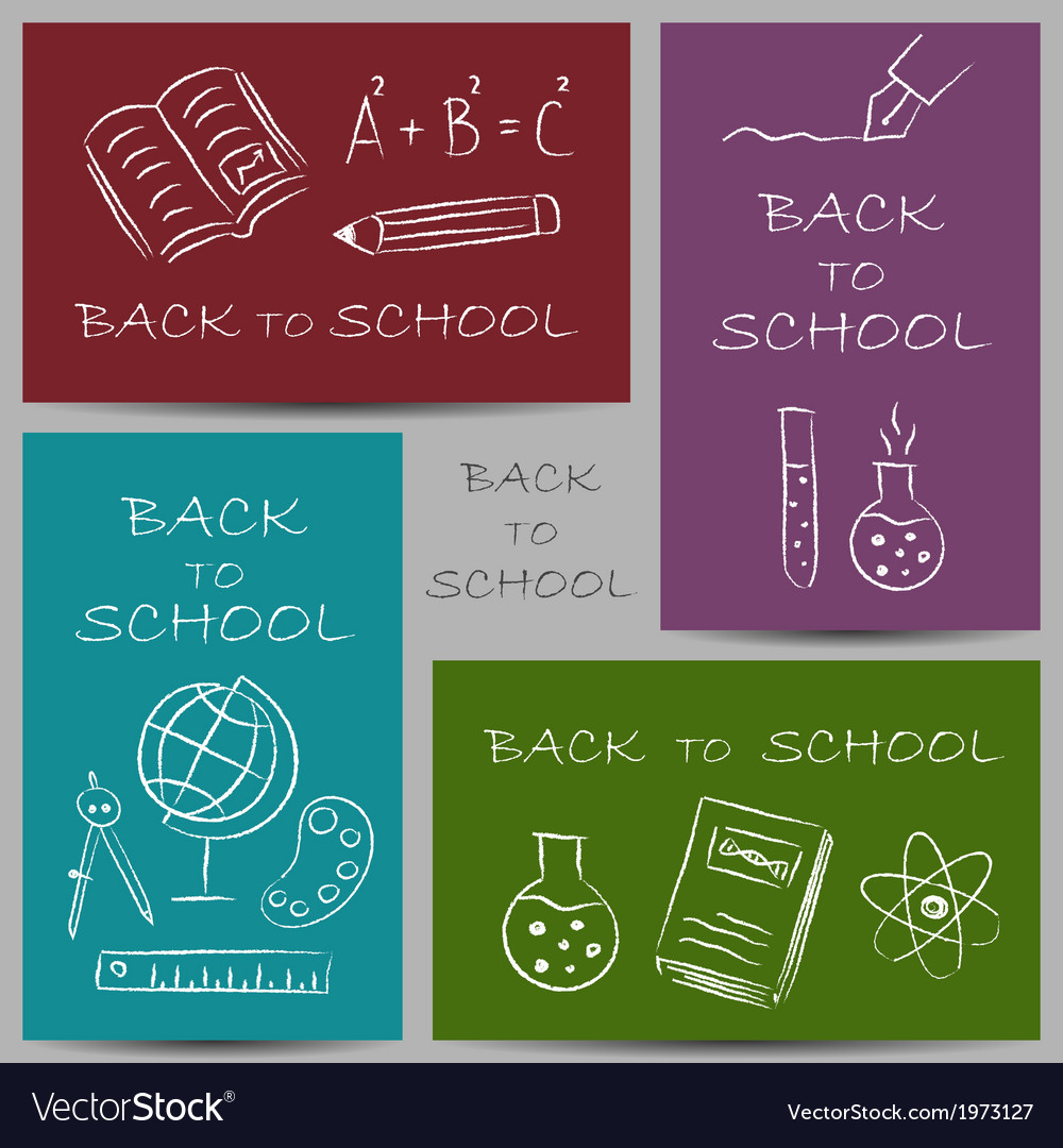 Back to school chalky vector | Price: 1 Credit (USD $1)