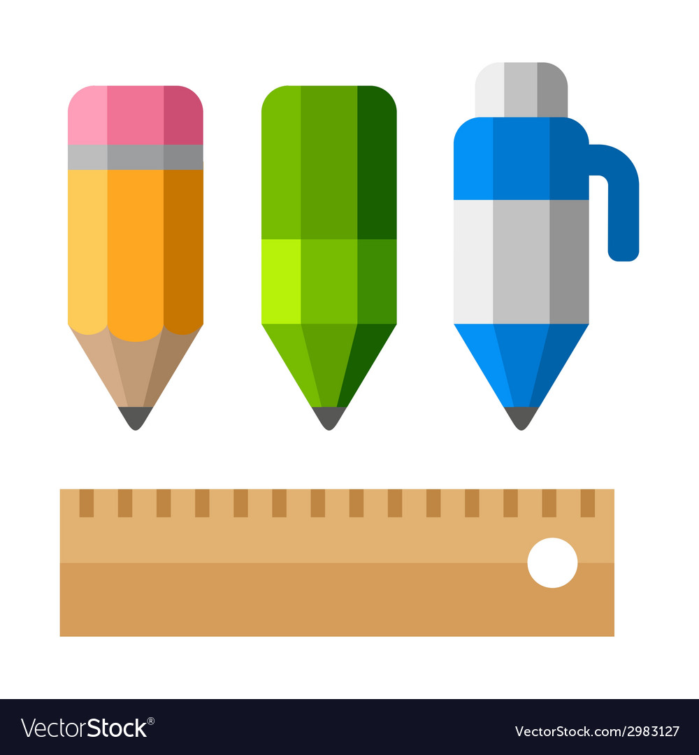 Drafting tools on white background school vector | Price: 1 Credit (USD $1)