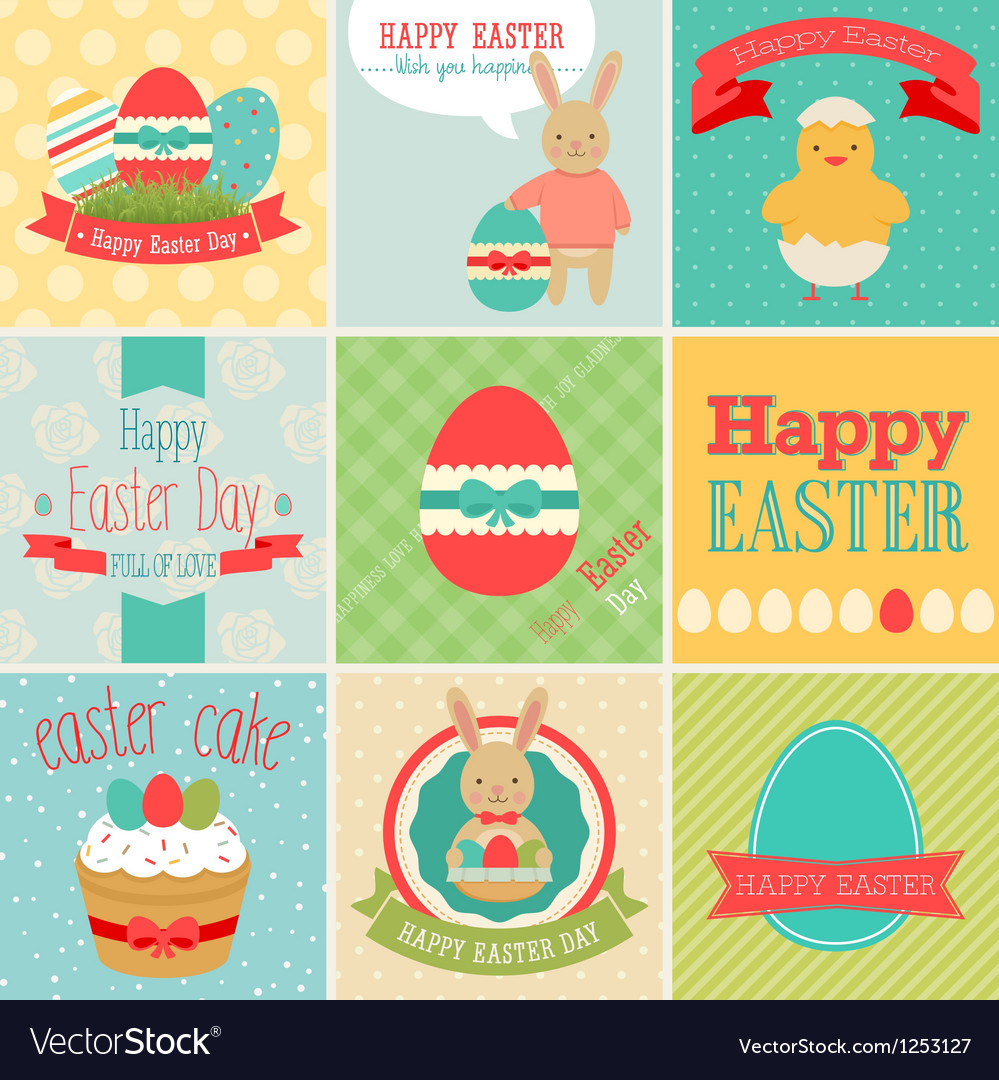 Easter card set vector | Price: 3 Credit (USD $3)