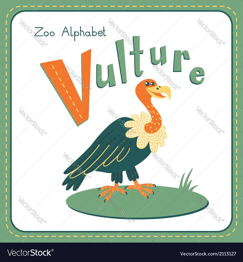 Letter v - vulture vector | Price: 1 Credit (USD $1)