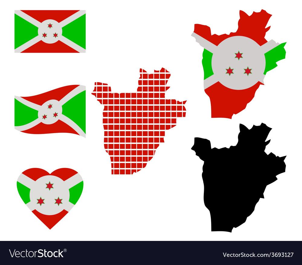 Map of burundi vector | Price: 1 Credit (USD $1)