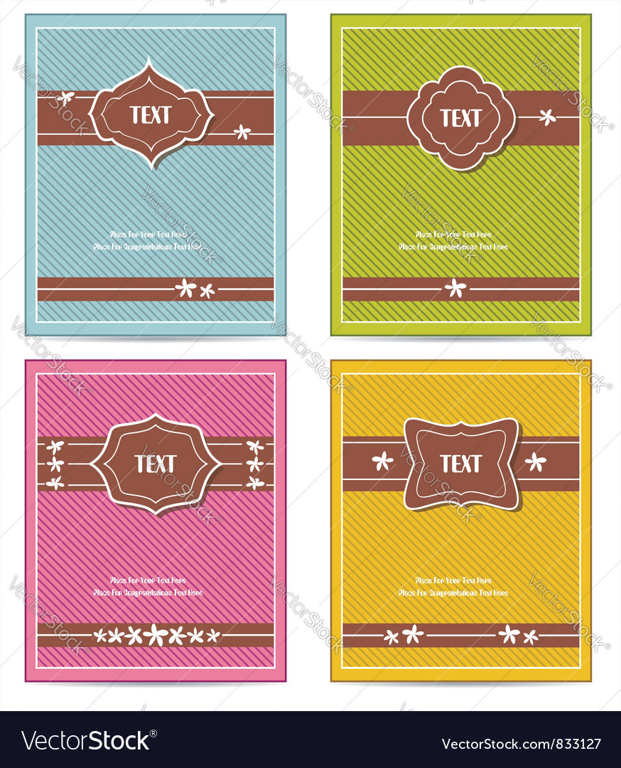 Old vintage book cover set vector | Price: 1 Credit (USD $1)